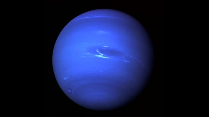 Neptune as imaged by Voyager 2 in 1989.