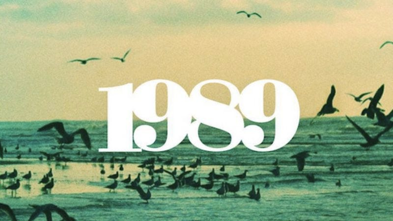 The cover of Adams' version of 1989