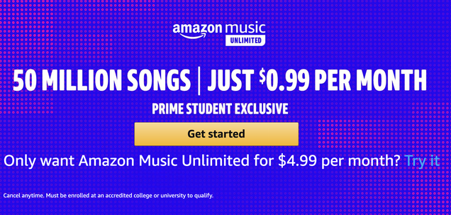 Amazon Music Unlimited For Prime Students | Amazon