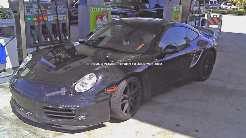 Illustration for article titled Did Porsche get caught testing a hybrid 911?