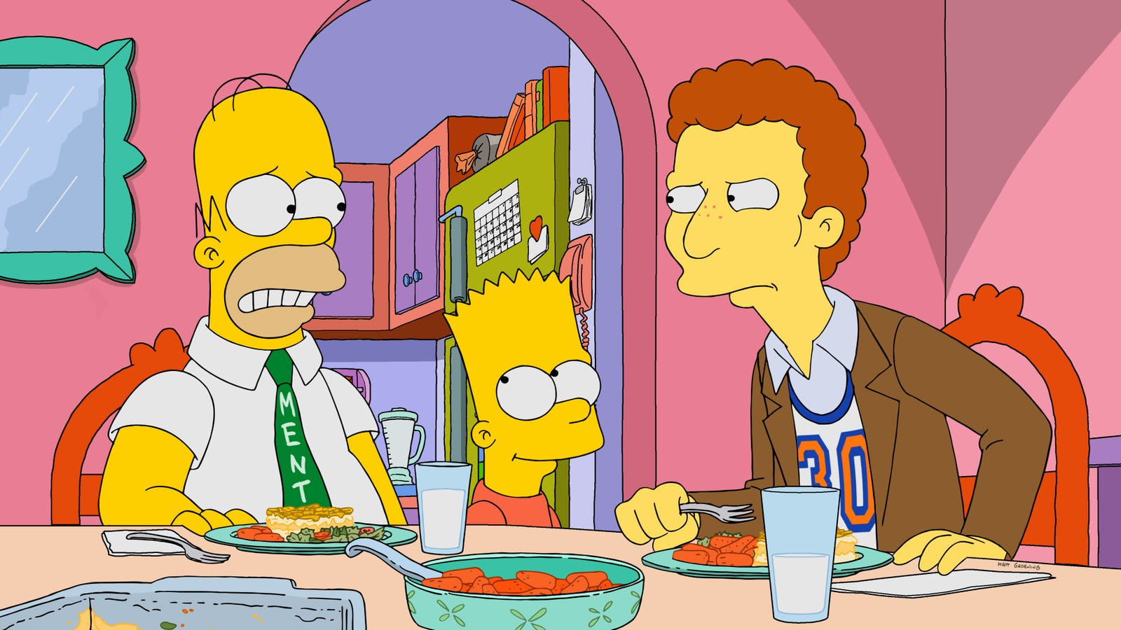 Homer finds a fan and winds up mentoring a real jerk on The Simpsons