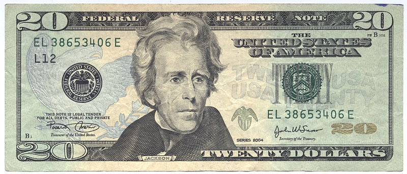 should andrew jackson be on the 20 dollar bill essay