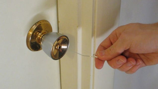 open simple household locks with a paper clip. Black Bedroom Furniture Sets. Home Design Ideas