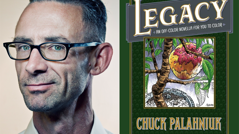 Images: Chuck Palahniuk photographed by Allan Amato, Legacy cover by Duncan Fegredo and Nate Pieko/Dark Horse.