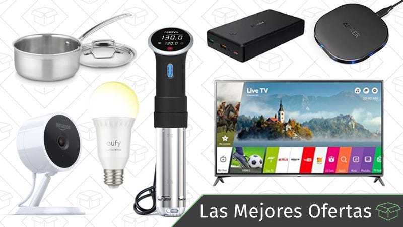 Illustration for article titled Las mejores ofertas de este lunes: Televisor LG 4K, circulador Sous Vide, luces inteligentes y más
