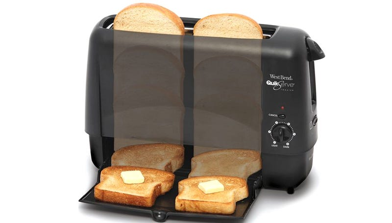 Illustration for article titled Compact Slide-Through Toaster Works In Just 90 Seconds