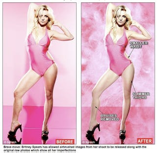 Illustration for article titled Britney's Unretouched Photos From Candie's Ads