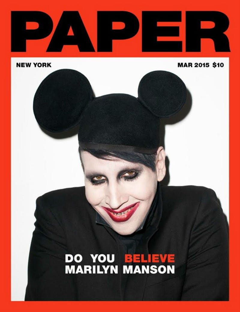 Illustration for article titled Marilyn Manson's New Paper Mag Cover: Nope.