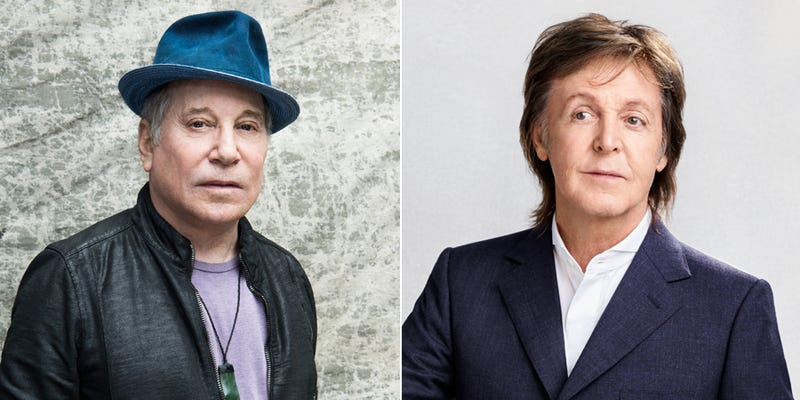 Pauls Simon (Photo: Frank Ockenfels III) and McCartney (Photo: Courtesy of Universal)