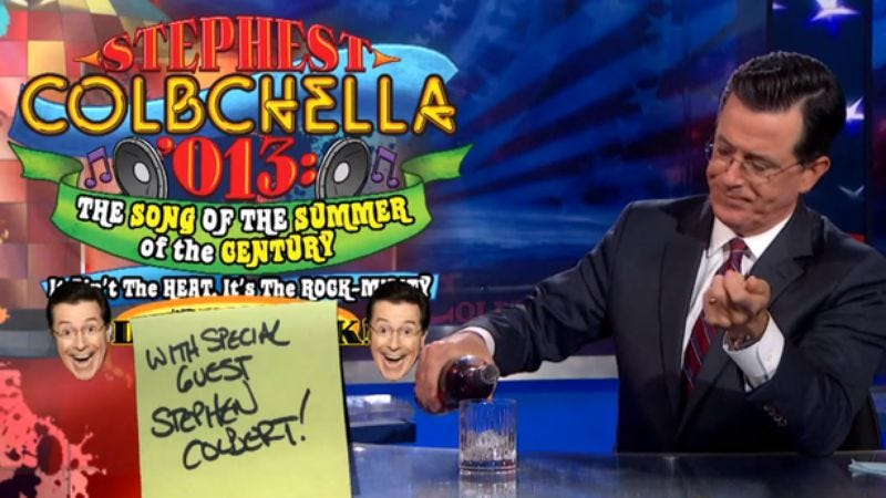 Illustration for article titled Daft Punk bailed on The Colbert Report last night, but Stephen Colbert emerged victorious