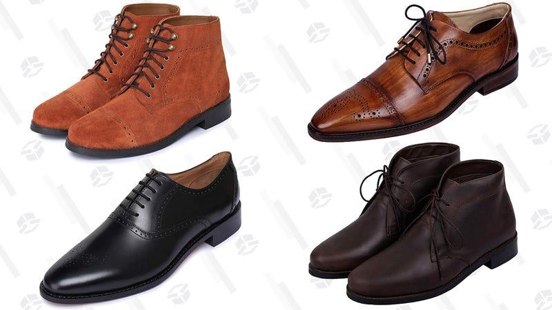Lethato Leather Dress Shoe Gold Box | Amazon
