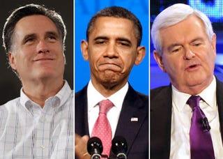 Mitt Romney; Barack Obama; Newt Gingrich (Getty Images)