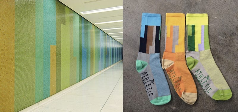 Illustration for article titled Dress to Match LAX's Colorful Tunnels With These Brilliant Socks