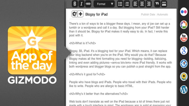Illustration for article titled Blogsy for iPad