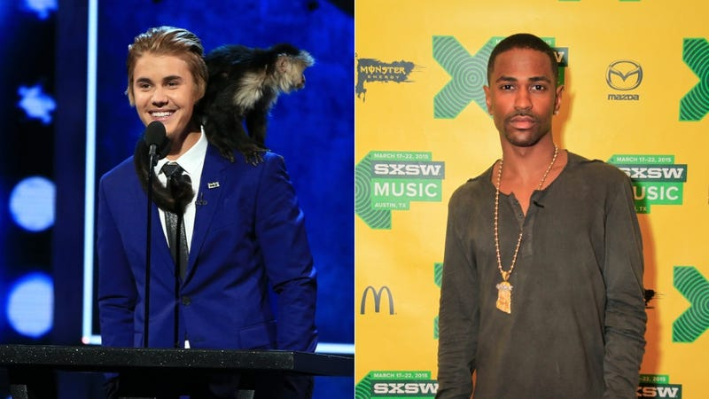 Illustration for article titled Big Sean Denies Beef with Justin Bieber Over Tiny Baby Ariana Grande