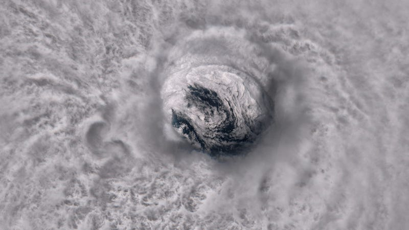 A view into the eye of 2017's Hurricane Jose.