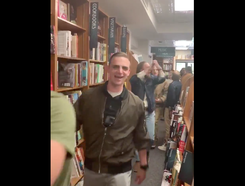 Illustration for article titled White Supremacists Descend Upon Book Store, Chant 'This Land is Our Land'
