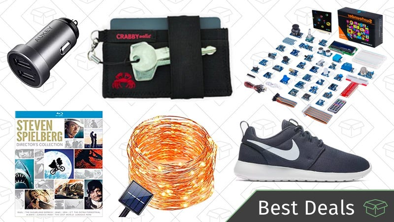 Illustration for article titled Thursday's Best Deals: Crabby Wallets, Nike Sale, Raspberry Pi Sensor Kit, and More