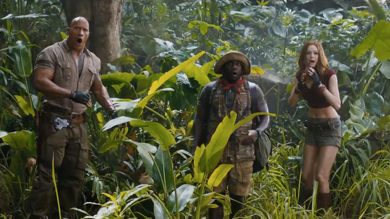 Watch the first trailer for The Rock's 'Jumanji' remake