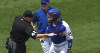 Illustration for article titled Angry Umpire Demands That Jon Lester Fight Him