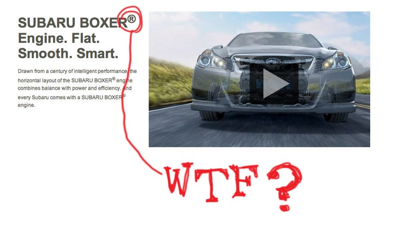 "Illustration for article titled Subaru Trademarked ""Boxer""?"