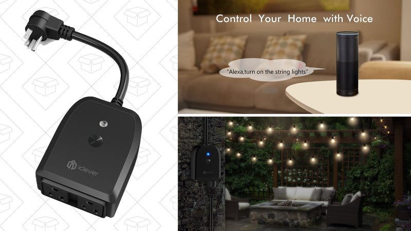 This Outdoor Smart Plug Lets You Control Your String Lights With