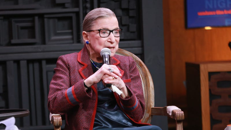 Illustration for article titled Ruth Bader Ginsburg Says She Is Staying Put For 'at Least 5 More Years'