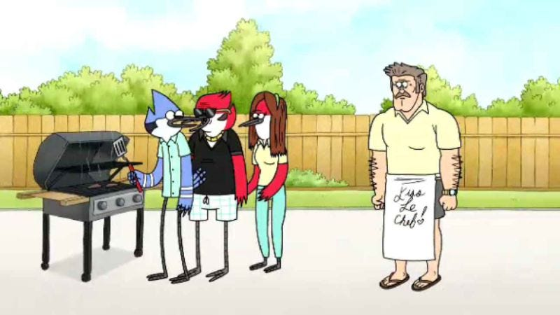 "Illustration for article titled Regular Show: ""Family BBQ"""