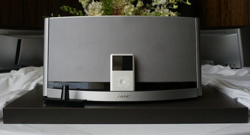 bose sounddock 10 has a subwoofer in its belly 600 tag on its forehead. Black Bedroom Furniture Sets. Home Design Ideas