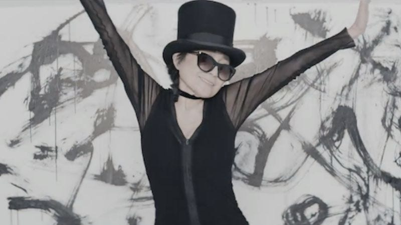 Illustration for article titled Watch Yoko Ono dance with Ira Glass and The Beastie Boys for her new music video