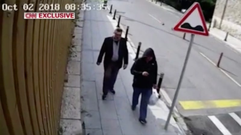 Illustration for article titled Saudi Operative Mortified After Surveillance Footage Reveals He Wore Same Outfit As Khashoggi