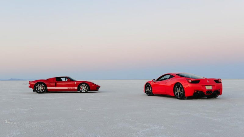 Illustration for article titled Would You Drive A Ferrari Or A Ford GT Across South America?
