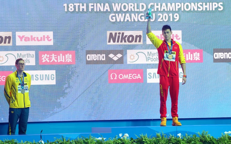 Illustration for article titled Australian Swimmer Refuses To Share Podium With Chinese Rival Over Strange Doping Allegations