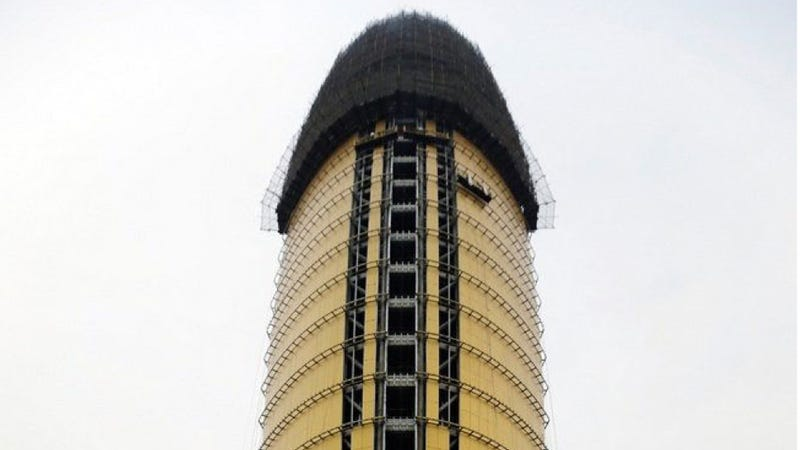 Illustration for article titled Chinese Newspaper's HQ Now Looks Like a Golden Penis