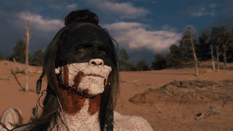 Zahn McClarnon as Ake on Westworld.
