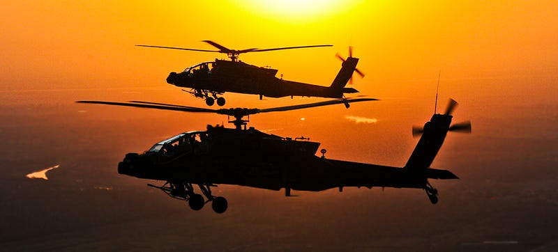 Illustration for article titled American Apache Attack Choppers Quietly Join The Fight Against ISIS