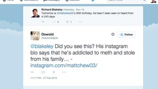 Former Gawker editor Matt Cherette's new social media update