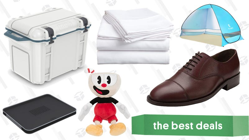 Illustration for article titled Sunday's Best Deals: Cotton Sheets, Leather Dress Shoes, Otterbox Coolers, and More
