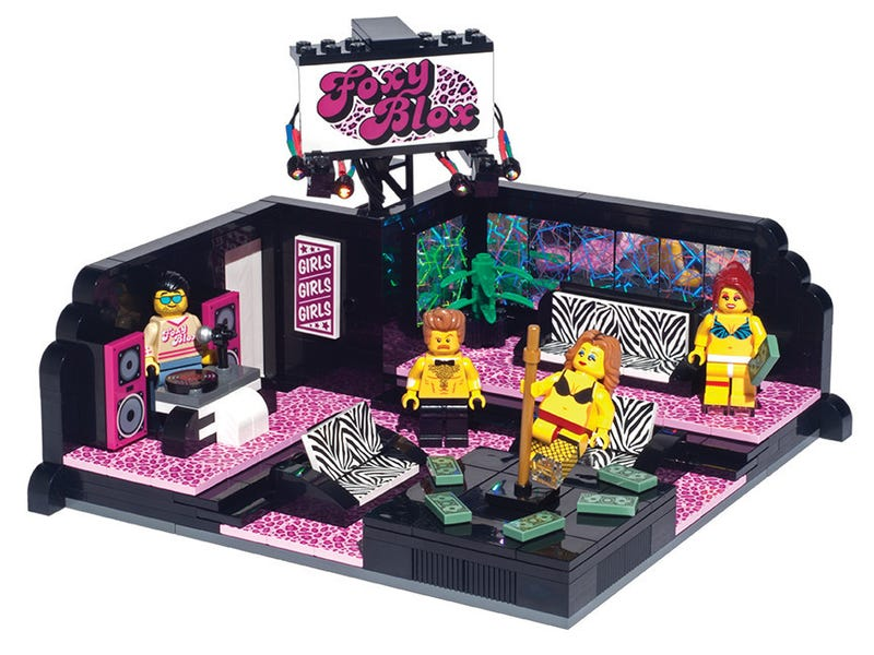 Illustration for article titled Yes, you can actually buy this Lego strip club