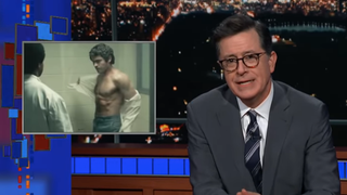 Illustration for article titled Stephen Colbert mocks Netflix's sexy serial killer obsession with The Dick Nighttime Murders