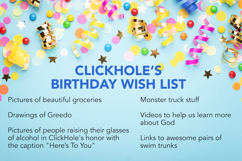 Illustration for article titled Happy Birthday ClickHole!