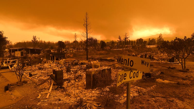 Homes destroyed as a result of the Carr Fire in Redding, California on July 27th.