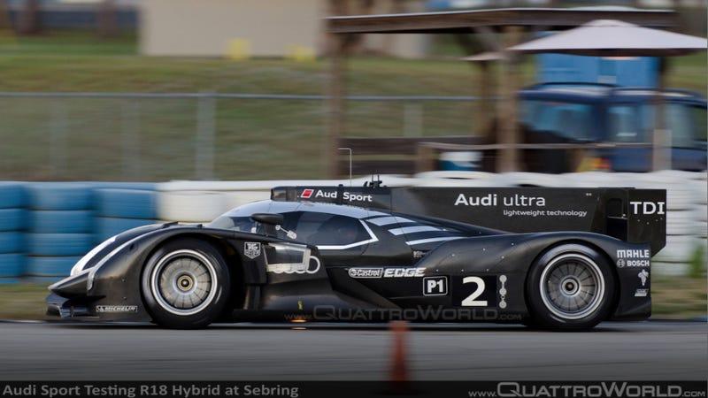 Illustration for article titled Audi R18 Hybrid tests new tech at Sebring