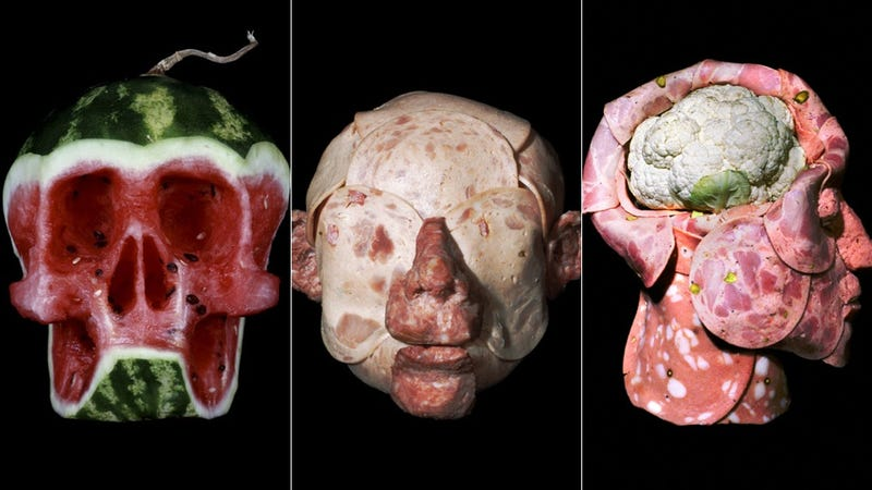 Illustration for article titled These anatomical food sculptures are gruesome and lunch-meaty
