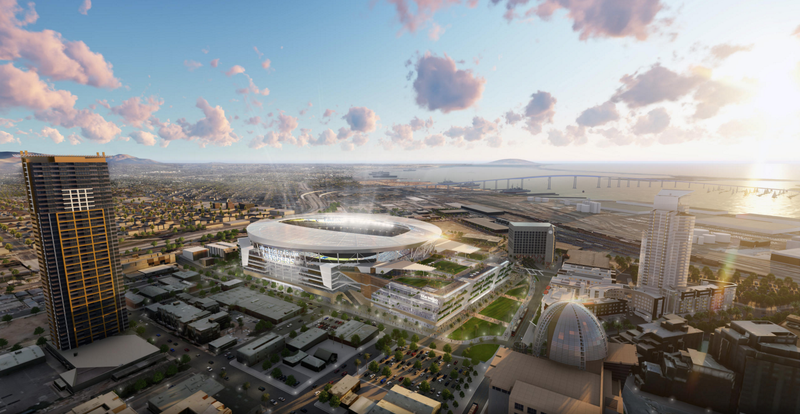 Illustration for article titled These Drawings Of A New Chargers Stadium Are Pretty But Who Gives A Shit