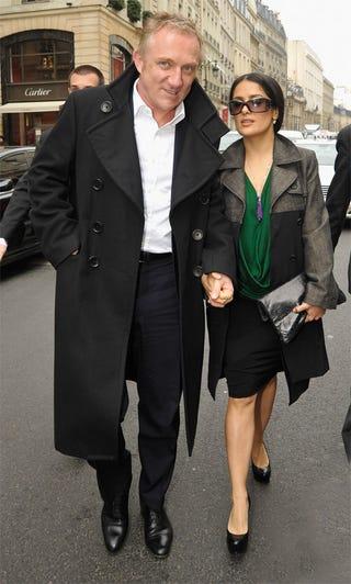 Illustration for article titled French Billionaire Takes Salma On Balenciaga Shopping Spree