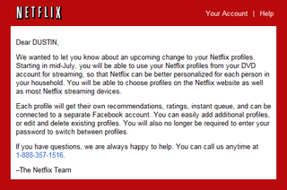 Illustration for article titled Netflix Bringing Streaming to Profiles