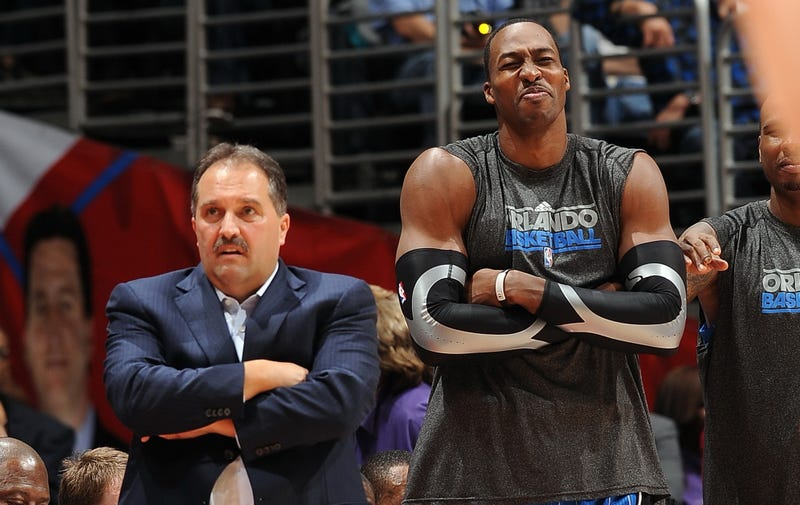 Illustration for article titled Report: Dwight Howard Called Magic Owner During A Game To Tell Him He Won't Play For Stan Van Gundy