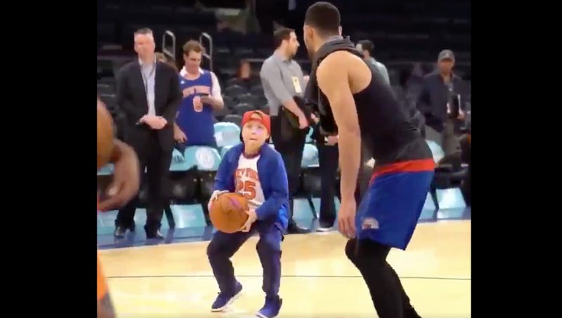 Illustration for article titled Ben Simmons Completes Next Step Of Recovery Process By Owning Knicks Child