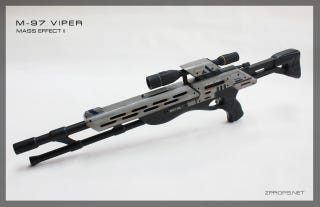 Illustration for article titled Human Hands Can Actually Touch This Mass Effect 2 Sniper Rifle